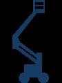 schematische Darstellung einer Gelenkteleskop-Arbeitsbühne